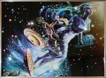 Весы. Картина японского художника Ютака Кагайя с кристаллами Swarovsky.