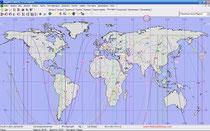 Планетные линии Солнечного Затмения 25.11.2011