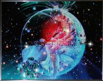 Скорпион. Картина японского художника Ютака Кагайя с кристаллами Swarovsky.