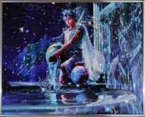 Водолей. Картина японского художника Ютака Кагайя с кристаллами Swarovsky.