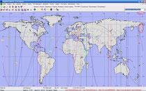 Проекция Солнечного Затмения 21.05.2012 на Землю