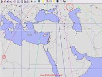 линии азимутов Солнечного Затмения 25.11.2011 на г.Млсква