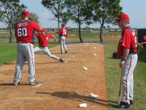 Il bullpen dei National durant lo spring training- foto da Nats320 Bolgspot.it