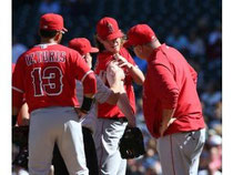 Il pitcher partente degli Angels Jered Weaver