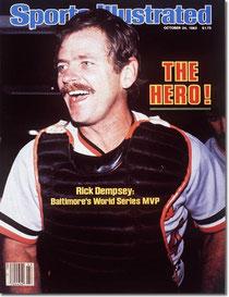 La copertina di Sport Illustrated con la foto di Rick Dempsey
