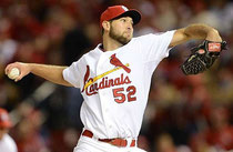 Michael Wacha dei St Louis Cardinals, questa notte vincente contro Boston (Foto da MLB Sports Illustrrated)