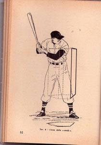 Alberto Manetti nel libro Baseball (1968 Edizioni Mediterranee) tavola 6 a pag. 52.
