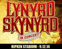 La locandina del concerto del gruppo Lynyrd Skynyrd (il gruppo che canta Sweet Home Alabama) presso lo stadio di Aberdeen) Clicca sulla foto per ascoltare la canzone