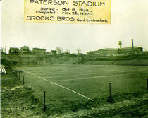 In 1930, Paterson Stadium, set on the future site of Hinchliffe Stadium, was completed in 34 days. (Photo courtesy Brian LoPinto)