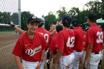 La mia squadra di giovani durante una partita a Pittsburgh nel 2011