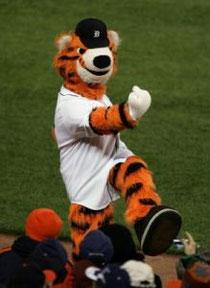 Paws, la mascotte dei Detroit Tigers