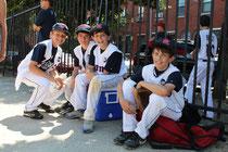 I Ragazzi della squadra di New York. Moltissimi di loro sono di origini Italiane