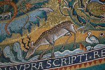 Rom, Basilica di San Clemente, Hirsch im Apsismosaik