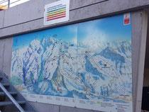 Original 4.5x1.5 Pistenplan aus Zermatt.