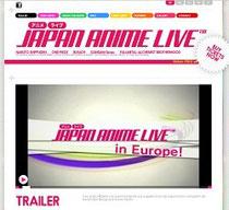 Screenshot der Anime Live com Seite