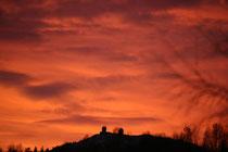 Abend in Schwarzenbach mit Blick auf den Großen Arber