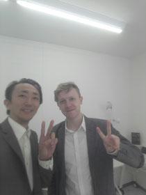 日本文化発信プロジェクトの大使の二人です