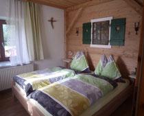 Ferienwohnung Sommertag am Wolfgangsee Kuschelzimmer im Almhüttenstil