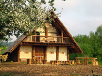 Langhaus Alcomna Archäologiepark Altmühltal