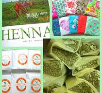 自然ヘナのヘナ袋&おーちゃんのヘナ入りぬか袋