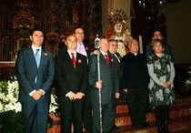 Componentes de La Entrante y Saliente  de la Junta de Gobierno del la Real Archicofradía de Ntra. Sra. del Rosario y Santisísimo Cristo Resucitado de Baena.