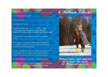 Подарочный сертификат; Подарочный сертификат на конную прогулку; Подарок на Новый Год