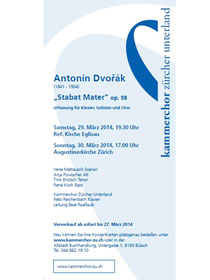 Konzertplakat Stabat Mater