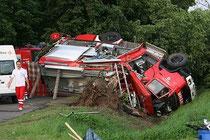 Worst case - verunfalltes Einsatzfahrzeug