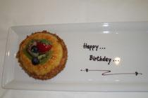 Aufmersamkeit des Hotels zum Geburtstag