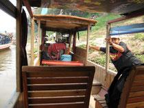 Ablegen zur Mekong-Flussfahrt