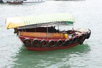 Sampan im Hafen von Aberdeen,    Hong Kong