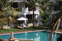Poolbereich unseres Hotels