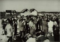 Siedlerversammlung unter freiem Himmel 1948