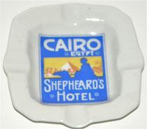 Aschenbecher Cairo Egypt Shepheards Hotel
