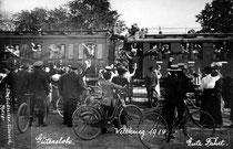 Zug mit Truppen in Gütersloh © Stadtarchiv Gütersloh