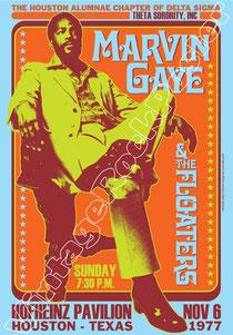 marvin gaye, Marvin Gaye poster, manifesto, vintage rock poster, hofheinz pavillon,houston, texas, usa, locandina, affiche, cartaz, karte, konzert, concerto, concert