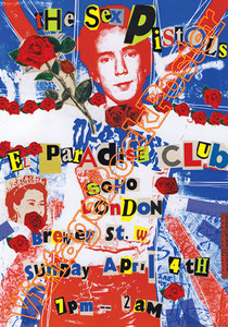 sex pistols,punk,Wally Nightingale, Sid Vicious, John Lydon, Steve Jones, Glen Matlock, Paul Cook, johnny rotten,the queen,anarchy in the uk,god save the queen,pretty vacant,submission,swindle,poster