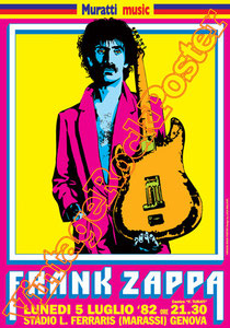 frank zappa,zappa poster,zappa concert,sheik yerbouti,hot rats,joe's garage,jazz,rock,classic rock,camarillo brillo,nanook rubs it,concert, poster, affiche,manifesto