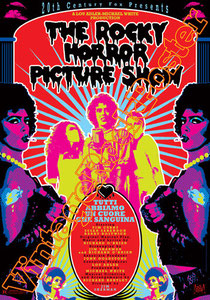 the rocky horror picture show, glam rock, musical movie, movie, cinema, teatro, theatre,tim curry,Richard O' Brien,Susan Sarandon,glam rock musical, glam musical, poster, rocky horror poster,transexua