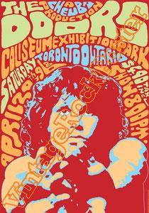 doors, Jim Morrison, Ray Manzarek, Robby Krieger, John Densmore, Rick Manzarek, Jim Manzarek, Pat Sullivan,psychedelic,psichedelia,gloria,doors poster,king snake,Coliseum exhibition park