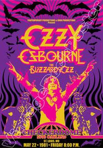 Ozzy Osbourne, Black Sabbath, Ozzy, metal, death metal, poster, manifesto, affiche, vintage rock poster, konzert,karte,cartel, cartaz, concierto, ozzy poster