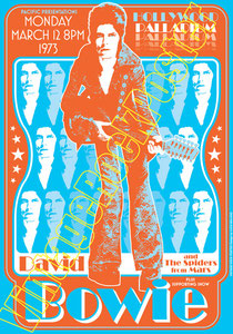 david bowie, ziggy stardust,bowie,glam rock, velvet goldmine, vintage rock posters, poster, new york, 1972