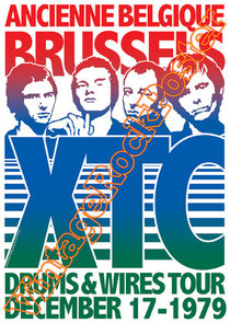 xtc,Andy Partridge, Colin Moulding, Dave Gregory, Terry Chambers, Barry Andrews,alternative rock,xtc poster,xtc concert,london,british music,british rock,vintage rock posters