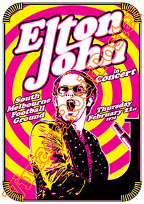 elton john,diana spencer,felt forum,melbourne,australia,london,los angeles,british rock,piano,concerto, elton john poster,vintage rock posters,candle in the wind,hollywood, sportatorium