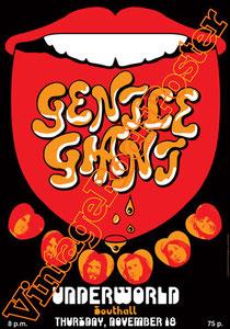 gentle giant, Derek Shulman, Kerry Minnear, Ray Shulman,southall,gentle giant poster,concert,1971