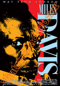 miles davis, trumpet,tromba, jazz,swing,orchestra,concert,poster,new york, miles davis poster,cardiff,st david's hall,