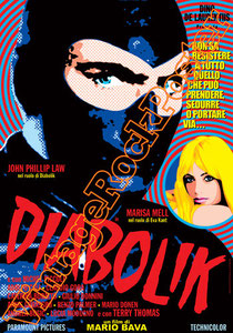 diabolik, danger diabolik, marisa mell, john philiph low, michel piccoli, 1968, mario bava, diabolik poster, diabolik affiche, manifesto, locandina, cinema, movie, cannes, hollywod, pop movie, italian
