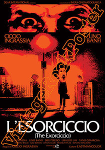 l'esorciccio, ciccio ingrassia, l'esorcista, the exorcist,italian movie, b movie, spaghetti movie, poster b-movie,mafia movie,horror , commedia all'italiana, manifesto, locandina