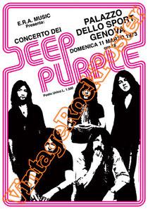 deep purple,Ian Gillan, Rod Evans, David Coverdale, Joe Lynn Turner, classic rock, psychedelic, psichedelia, rock,american , british rock, dark,gothic,concert,deep purple poster,genova, palazzo sport