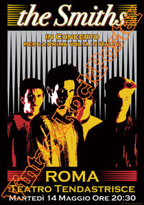 the smiths, Morrissey, Johnny Marr, Andy Rourke, Mike Joyce, Craig Gannon, Dale Hibbert,the smiths poster,dark poster,gothic poster, new wave poster,concert,music,bristol,roma,vintage rock posters